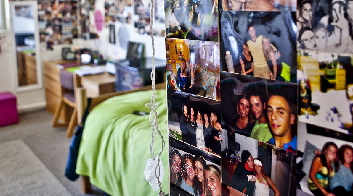 Pictures on the wall in a Freiburger dorm room.