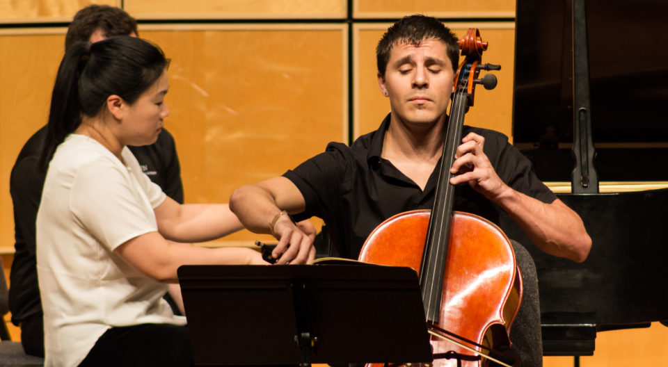 Trace Johnson Playing the Cello