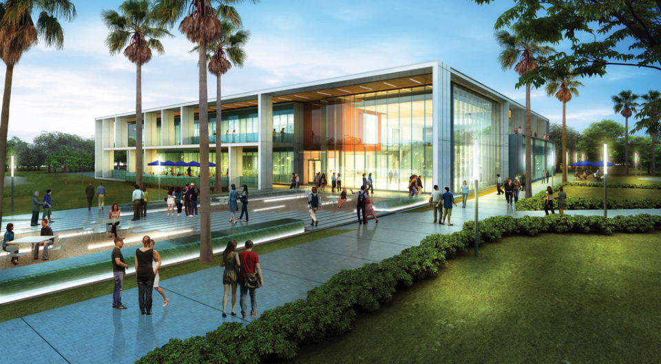 Preliminary architectural rendering by Gensler