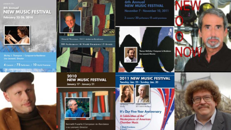 New Music Festival flyers