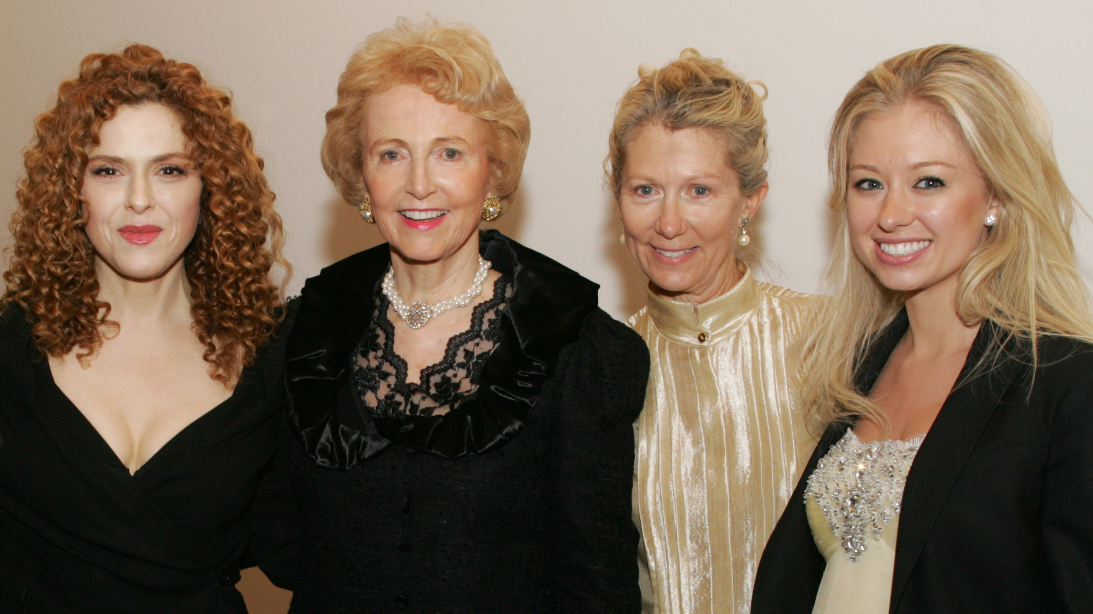 Bernadette Peters with Elaine J. Wold and others