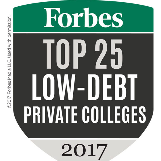 Forbes Top Low Debt Colleges 2017
