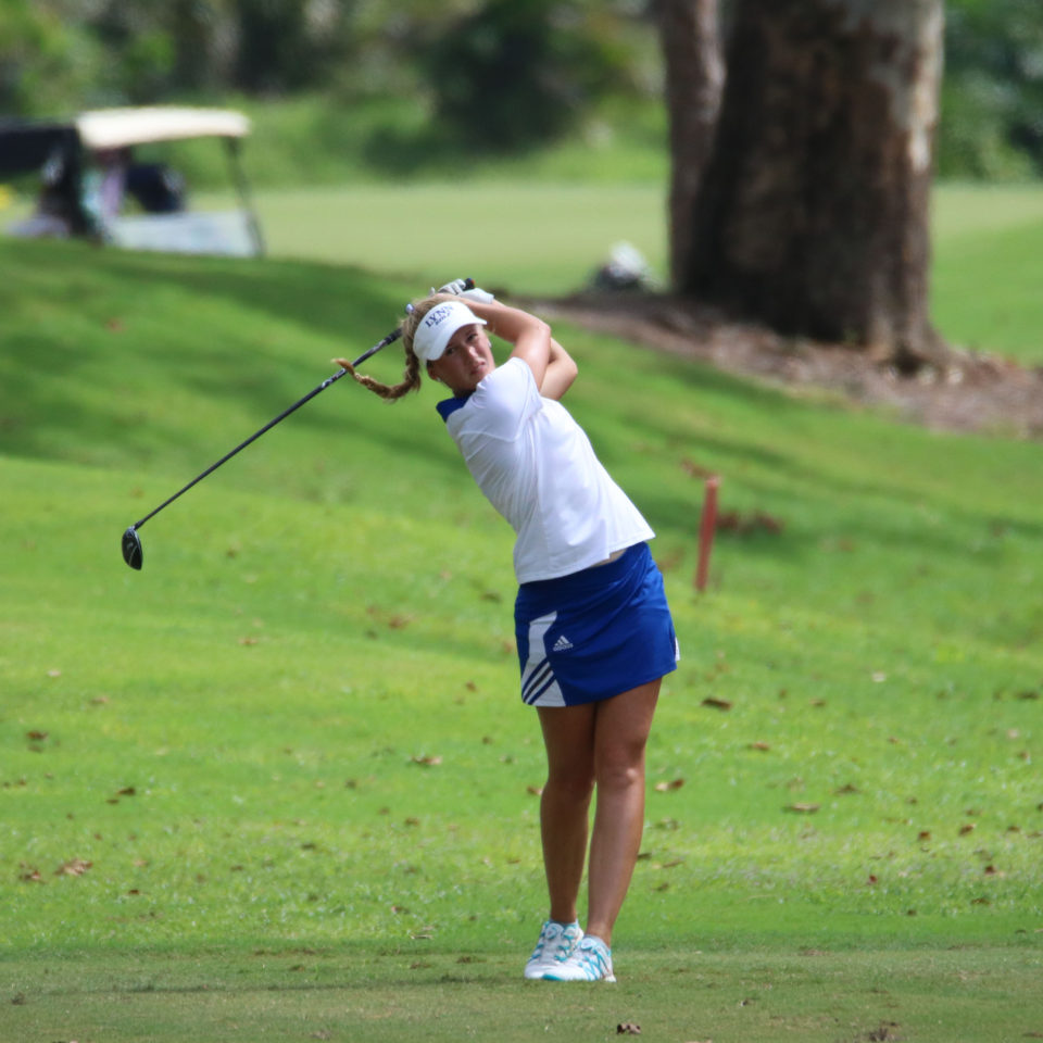 Lynn University Fighting Knights' Matilda Wharen on the greens