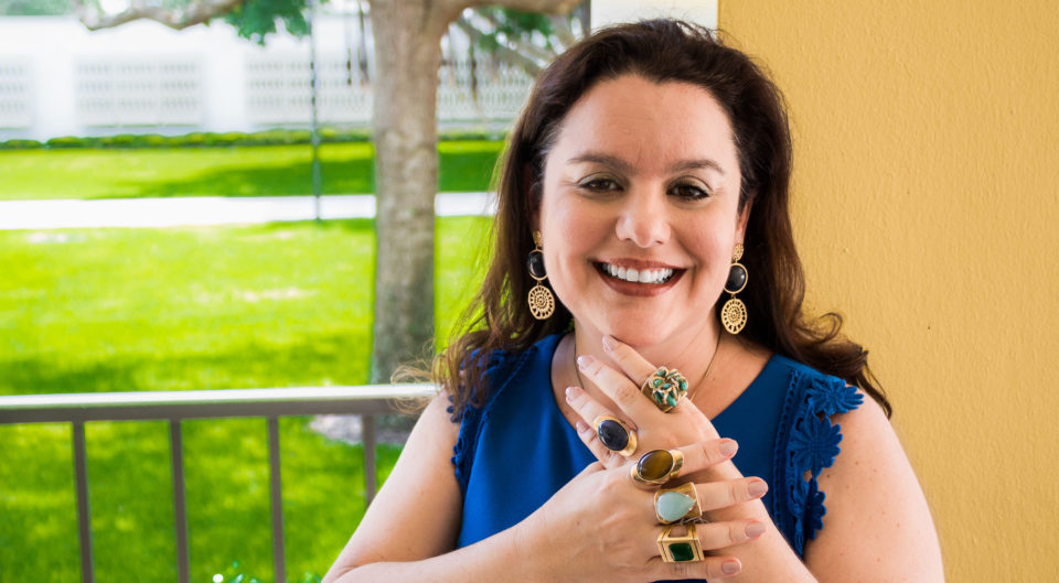 Anny Stern shows off Anny Stern jewerly designs