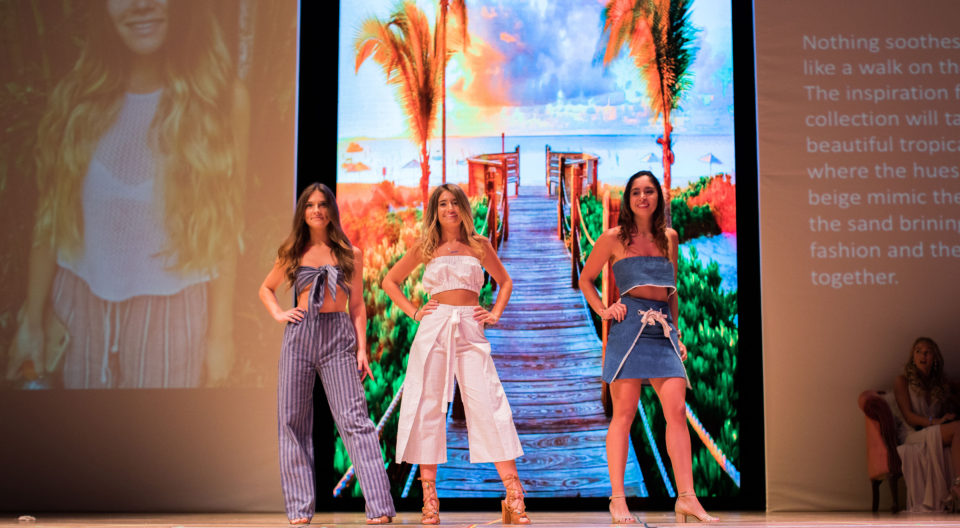 Models at the 2018 student spring fashion show.