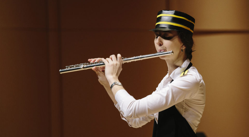 Woodwinds' student at the Conservatory of Music
