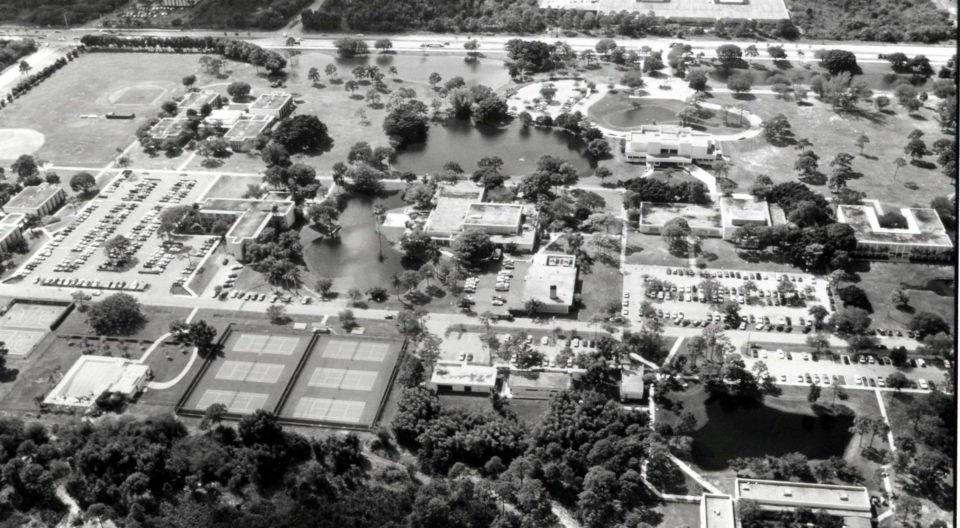 Overview of Lynn University campus in 1989.
