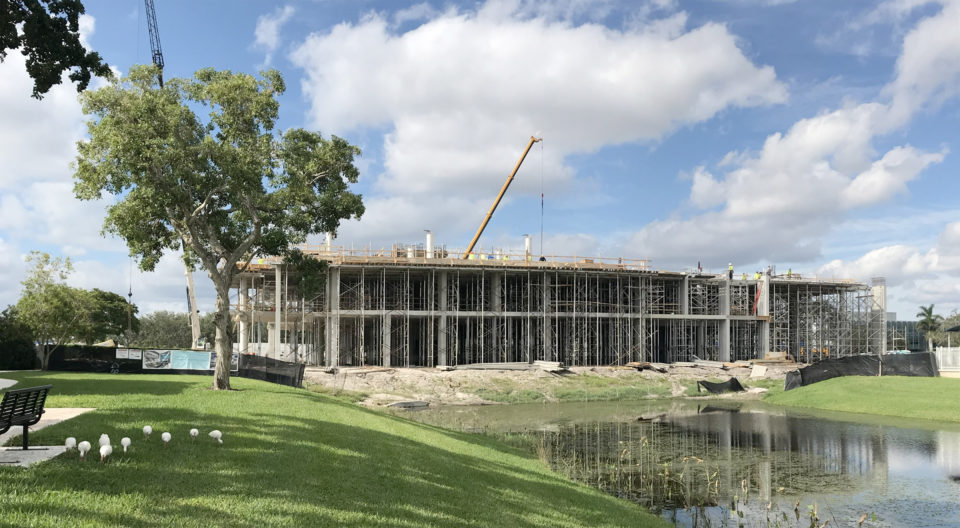 Christine E. Lynn University Center under construction.