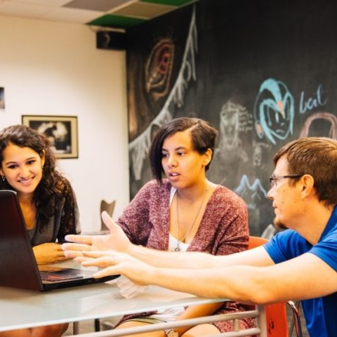 College of Communication and Design students engaged in learning