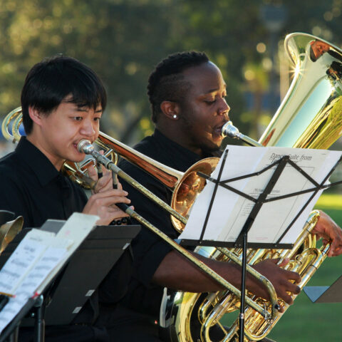 Conservatory students perform outdoors