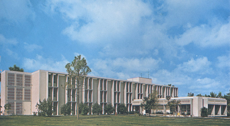 Historical photo of Trinity Residence Hall.