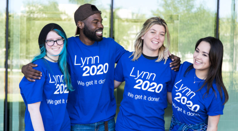 Students supporting Lynn University 2020 plan