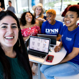 Lynn University students hang out at Perper Residence Hall