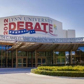 Political science majors get in depth political knowledge at the Lynn hosted. 2012 Presidential Debate.