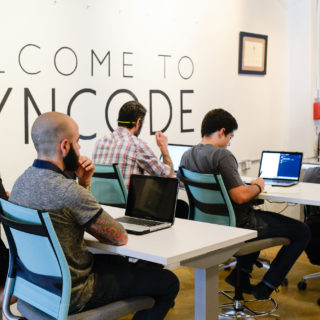 Students at Wyncode Academy in the web development course.