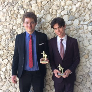 Lynn Debate team winners Will Conway and Serkan Oran