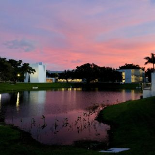 Sunset at Lynn University.