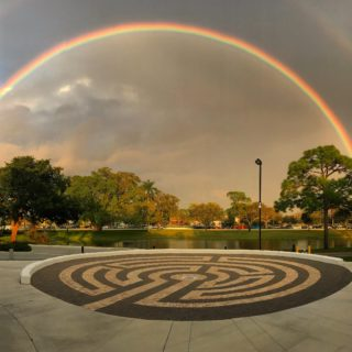 Double rainbow over Lynn's campus