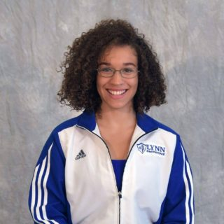 Lynn University Fighting Knights Women's Swimming team member, Gaia Alexandra Jacobs