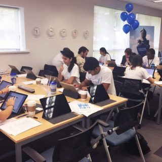 Lynn University student volunteers call alumni on the second annual day of giving