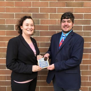 Debaters Julia Gordon and Chris Cohen won 4th Place at the Trail's End Tournament.
