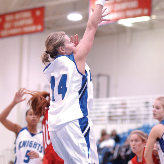 Lisa Kerney plays basketball at Lynn University.